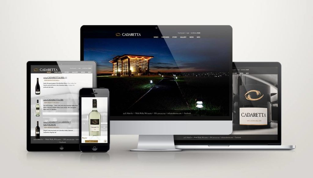 Cadaretta Wine Website Design